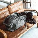【犬 キャリー】スクエア トート ハンプ ソリッド LL サイズ 犬ペット用品 愛犬用 ブラック カーキ 中型犬用 お出か…