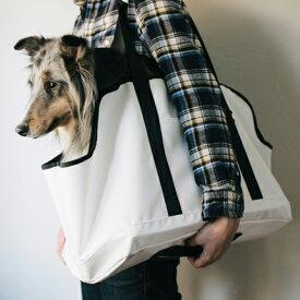 【犬 キャリーバッグ】スクエア トート ターポリン LL サイズキャリー/キャリーバック/キャリーケース/ペット用キャリー/ショルダー/いぬ用/飛び出し防止