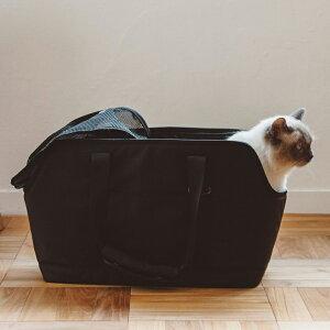 【猫 キャリー】バルコディ スクエア トート Lサイズねこ ネコ キャリーバッグ キャリー バッグ かばん おしゃれ シンプル 日本製 日本 メッシュ ポケット 肩掛け トート