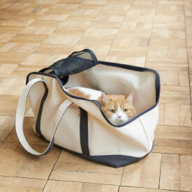 【猫 キャリー】スクエアトート ハンプ ツートン Lサイズ猫 ねこ 大きい猫 キャリーバッグ キャリー バッグ かばん 鞄 洗える 洗濯 病院 通院 帆布 キャンバス ハンプ 車 病院 シンプル おしゃれ 人気 日本製