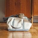 猫のキャリーバッグスクエアトートSサイズ【ネコ/キャリーバッグfreestitch/キャリーバック/carrybag/キャリーバッグ】