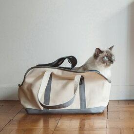 スクエア トート キャンバス ツートン Mサイズ 猫用