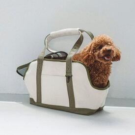 【犬 キャリー】スクエア トート キャンバス ツートン S サイズ犬 キャリー キャリーバッグ バックパック キャリーケース ペット 旅行 犬用 ドッグ 電車 キャリー おしゃれ 小型犬 日本製 シンプル トイプードル チワワ