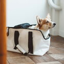 【犬キャリーバッグ】スクエアトートターポリンLサイズ中型犬用キャリーバックcarrybagfreestitch
