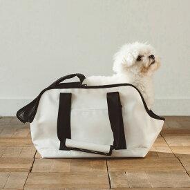 【犬 キャリー】スクエア トート ターポリン S サイズキャリーバッグ キャリーケース 犬 キャリーバッグ キャリーケース シンプル 防水 雨 キャリー アウトドア チワワ トイプードル シンプル おしゃれ 日本製 人気
