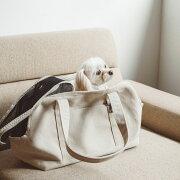 スクエアトートリネンソリッドSサイズ犬お出かけに便利なスクエアタイプのトートバッグ犬用バッグキャリーバッグ犬鞄おしゃれシンプル日本製