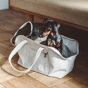 スクエアトートリネンソリッドMサイズ犬お出かけに便利なスクエアタイプのトートバッグ犬用バッグキャリーバッグ犬鞄おしゃれシンプル日本製