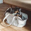 スクエア トート リネン ソリッド M サイズ 犬 お出かけに便利なスクエアタイプのトートバッグ 犬用バッグ キャリー バッグ 犬 鞄 おしゃれ シンプル 日本製