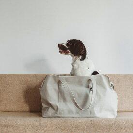 スクエア トート リネン ソリッド LLサイズ 犬 お出かけに便利なスクエアタイプのトートバッグ 犬用バッグ キャリー バッグ 犬 鞄 おしゃれ シンプル 日本製