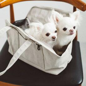 スクエア トート リネン ソリッド S サイズ 犬 お出かけに便利なスクエアタイプのトートバッグ 犬用バッグ キャリー バッグ 犬 鞄 おしゃれ シンプル 日本製 リネン オールリネン こだわり