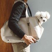 スクエアトートリネンツートンMサイズ犬お出かけに便利なスクエアタイプのトートバッグ犬用バッグキャリーバッグ犬鞄おしゃれシンプル日本製