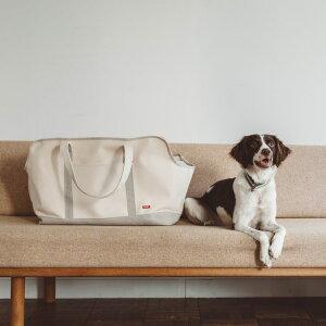 【犬 キャリー】スクエア トート リネン ツートン LL サイズ 犬 ドッグ いぬ 犬用バッグ キャリー バッグ 犬 鞄 クレート キャリーバッグ おしゃれ シンプル 日本製 洗濯