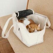猫のキャリーバッグネコ用carrybagスクエアトートMサイズ【キャリーバックfreestitch】