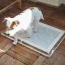 オリジナル アクリル トイレ トレイ S レギュラー 犬トイレ 犬 おしゃれ シンプル アクリル トイレトレイ マナー スペース インテリア 日本製 洗える アクリル ブラック ホワイト ブラウン シーツ