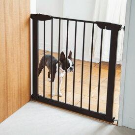 【犬 ゲート】スタイリッシュ ドッグ ゲート アイアン製のサイズ調整自由なフェンスゲート フェンス おしゃれ シンプル つっぱり 北欧風 アイアン ペットフェンス ドッグフェンス ゲート ガード 柵 階段 パーテーション 北欧 デザイン