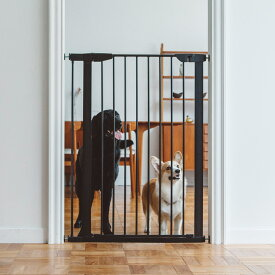 【犬 フェンス】スタイリッシュ ドッグ ゲート トール おしゃれなアイアン製ドッグフェンスゲート フェンス おしゃれ シンプル つっぱり 北欧風 アイアンゲート ペットフェンス ドッグフェンス ゲート ガード 柵 階段 パーテーション