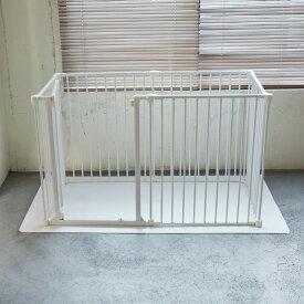 【犬 サークル】サークル シート レクタングル L(ホワイト)ケージ ゲージ シート 簡単 かんたん ドッグ犬用品 サークル スタイリッシュ シンプル マット