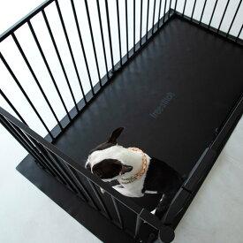 【犬 サークル】サークル シート レクタングル L(ブラック)ケージ ゲージ シート マット 簡単 かんたん ドッグ犬用品 サークル スタイリッシュ シンプル マット