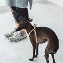 【犬 ハーネス 革】ヌメリングワンタッチハーネス 40小型犬〜中型犬用 オリジナル