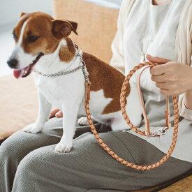 【犬 リード 革】オリジナル ヌメ ウーブン リング リード M サイズ犬リード 犬 リード 小型犬 中型犬 革 皮 革製 レザー おしゃれ 犬のリード 犬リード中型犬 犬リード小型犬