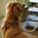 【犬 ハーネス 革】オリジナルヌメリングワンタッチハーネス 大型犬用 70