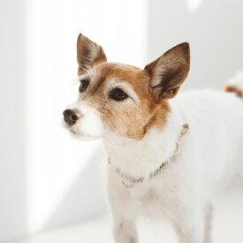 【犬 ハーフチョーク】オリジナル ヌメ ウーブン ハーフチョーク S迷子札 犬 首輪 猫 首輪 おしゃれ 革 かわいい 小型犬 中型犬 犬首輪 犬の首輪 いぬ ねこ ペット くびわ レザー