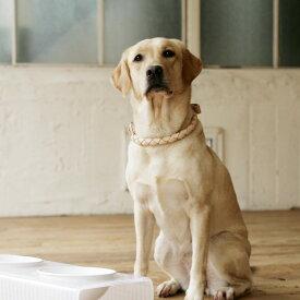 【犬 首輪】オリジナル ヌメ ウーブン ハーフチョーク 3L サイズ犬の首輪 犬首輪 大型犬用 革 いぬ くびわ