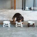 pecolo Food Stand S 陶器浅型 (フードボウルスタンド) 犬 フードボウル
