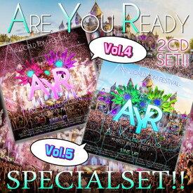 【世界の大型EDMフェスMIX 2枚セット!!】DJ A-KEY / ARE YOU READY VOL.4&5 SPECIAL SET[AKSET-02]