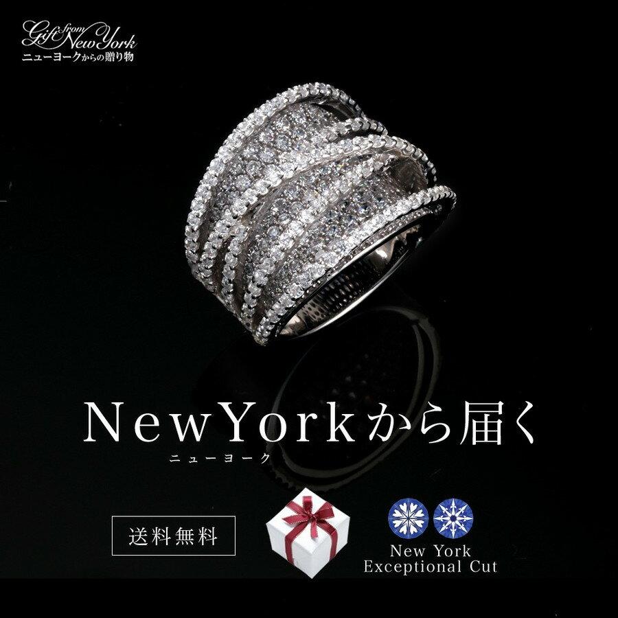 ニューヨークから直接届く!■パヴェ リング -Aura- アウラ 指輪【五番街コレクション】ニューヨーク デザイナーズリング 贈り物