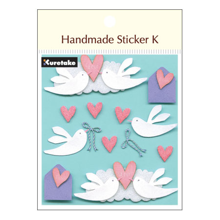 呉竹 Handmade Sticker K Love&Dove sbst300-5 デコレーション スクラップブッキング 素材 ラッピング ステッカー シール #201#