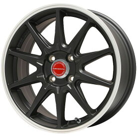 タイヤはフジ 送料無料 LEHRMEISTER レアマイスター LMスポーツRS10(マットブラックリムポリッシュ) 5J 5.00-15 INTERSTATE インターステート ECOツアープラス(限定) 165/55R15 15インチ サマータイヤ ホイール4本セット