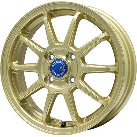 【送料無料】 FALKEN ファルケン エスピア W-ACE(数量限定2018年製) 165/70R14 14インチ スタッドレスタイヤ ホイール4本セット BRANDLE-LINE ブランドルライン カルッシャー ゴールド 5.5J 5.50-14