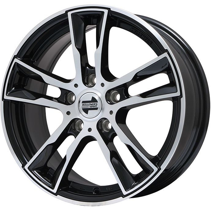 【送料無料 BMW2シリーズ(F45・F46)】 DUNLOP ダンロップ ウィンターMAXX 02 スタッドレスタイヤ ホイール4本セット 輸入車 KELLENERS ケレナーズスポーツ ケレナーズJr E5(ブラックポリッシュ) 6.5J 6.50-16 205/60R16 16インチ