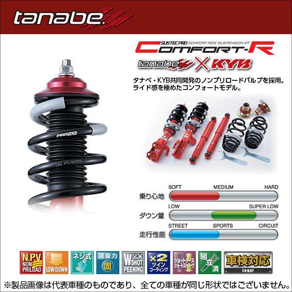 送料無料(一部離島除く) TANABE タナベ車高調 サステックプロCR トヨタ エスティマ(2006〜 50系 ACR50W) フジコーポレーション フジコーポレーション