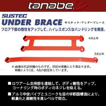 送料無料(一部離島除く) TANABE タナベ サステック アンダーブレース ホンダ N-BOXカスタム(2017〜 JF3) フジコーポレーション