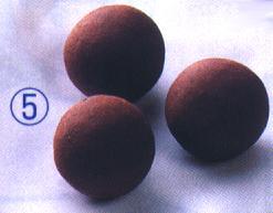 トルマリンボール(トルマリン+セラミックス焼結)クロ30mmφ5ケ