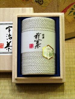 Kyoto Uji year canned new high quality Uji tea (Silver) 70 g with Kyoto Kiyomizu Temple Omotesando Uji tea professional store Fuji and tea shop