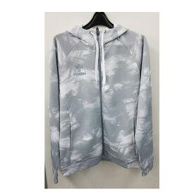 <ヒュンメル>あったか裏起毛スウェットフーデッドジャケット メンズ ホワイト HAP8201-10