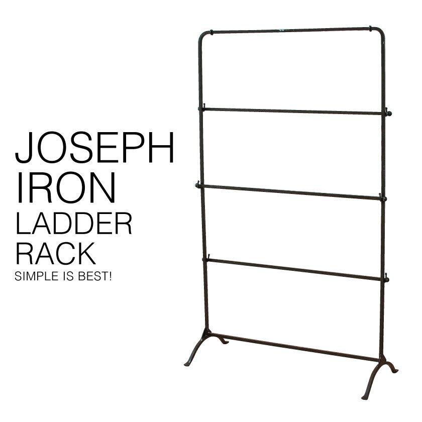 『送料無料』 JOSEPH IRON LADDER RACK ジョセフ アイアン ラダー ラック SPICE スパイス DTFF2900 高さ120cm 布 タオル マフラー ストール ディスプレイ 展示 北欧 シンプル スチール 鉄 ハンドメイド