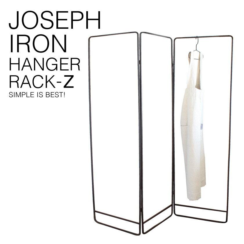 『送料無料』 JOSEPH IRON HANGER RACK ジョセフ アイアン3連 ハンガー ラック SPICE スパイス DTFF6180 高さ144cm 洋服 アパレル ディスプレイ 収納 展示 パーティション 北欧 シンプル デザイン 鉄 ハンドメイド