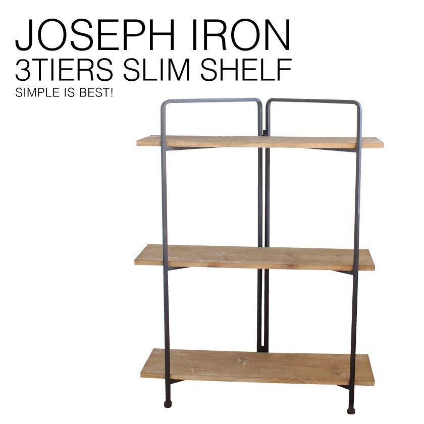 『送料無料』 JOSEPH IRON 3-Layer SLIM Shelf ジョセフ アイアン 3段 シェルフ スリム SPICE スパイス DTFF6250 ラック キャビネット 飾り棚 ディスプレイ 収納 北欧 スチール 鉄 ハンドメイド