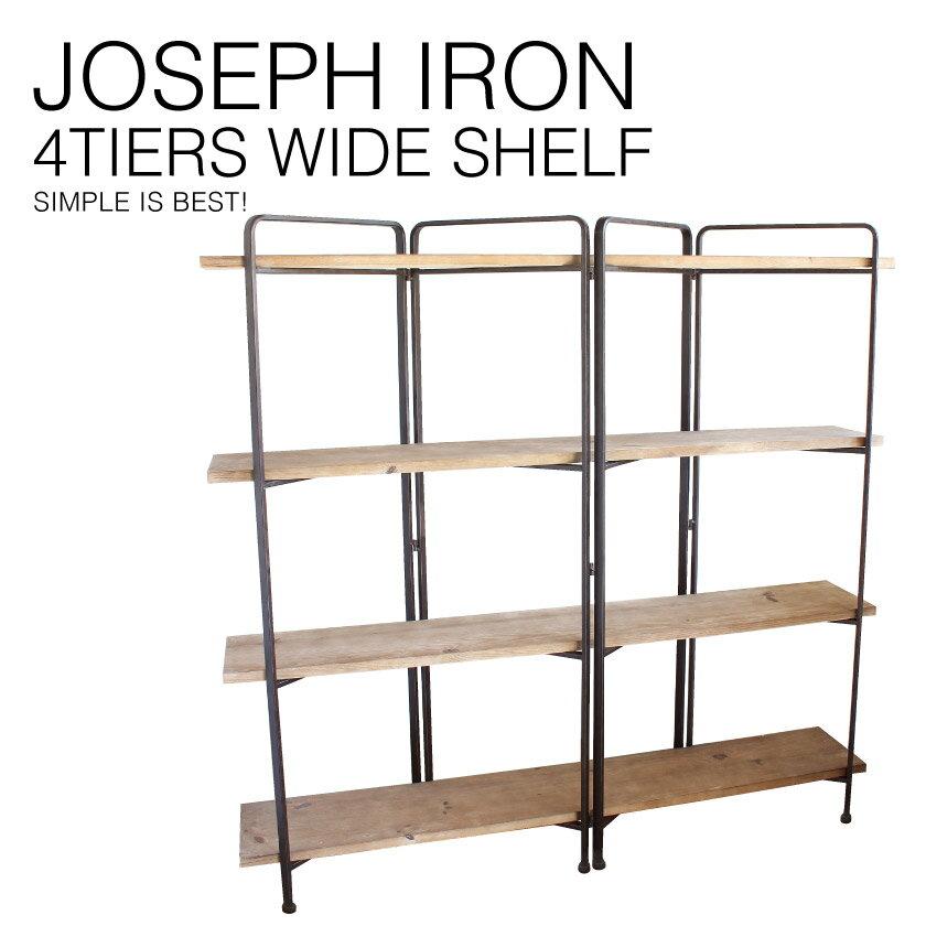 『送料無料』 JOSEPH IRON 4-Layer Wide Shelf ジョセフ アイアン 4段 シェルフ ワイド SPICE スパイス DTFF6270 ラック キャビネット 飾り棚 ディスプレイ 収納 北欧 スチール 鉄 ハンドメイド