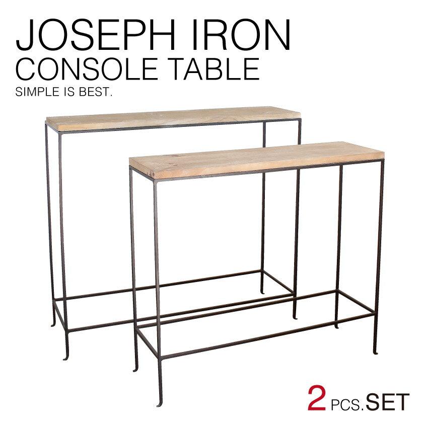 『送料無料』 JOSEPH IRON CONSOLE TABLE 2pcsSET ジョセフ アイアン コンソール テーブル 2サイズセット SPICE スパイス DTFF6289 台 飾り棚 ディスプレイ 展示 北欧 スチール 鉄 ハンドメイド