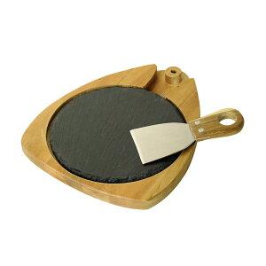 @【SALE 33%OFF!】 NEW DAY チーズ ラウンド スレート ボード & ナイフ セット SPICE スパイス LVLR2039 木の食器 まな板 石板 チーズ 皿 トレー 手作り 北欧 雑貨 ククサ キッチン 食器 パーティー アカ