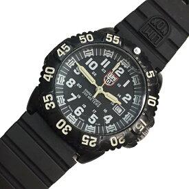 ルミノックス 腕時計 3050 3950 ブラック ホワイト シルバー金具 中古 ラバーベルト LUMINOX 時計 クオーツ 定番 人気   レディース メンズ ウォッチ ラウンドフェイス オシャレ カジュアル ブランドロゴ アクセ 本物 鑑定済み