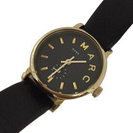 マークバイマークジェイコブス 腕時計 MBM1273 ブラック ゴールド金具 中古 ステンレススチール レザー MARC BY MARC JACOBS ラウンドフェイス レディース ウォッチ | 女性 時計 シンプル オシャレ カジュアル ブランドロゴ 革ベルト 黒 大人 本物 鑑定済み