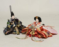 【雛人形収納飾】京小十番親王:ほのか雛(桐ワインレッド):平安翠泉作【雛人形】【親王飾】