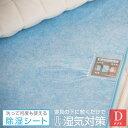 除湿シート 洗える ダブル 130×180cm 吸湿 除湿マット 結露防止 調湿 シリカゲル 布団 ベッド 湿気取り 湿気対策 結…