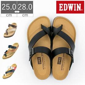 【10%OFF】EDWIN エドウィン サンダル メンズ トングサンダル シンプル メンズサンダル カジュアルサンダル カジュアル EB1003